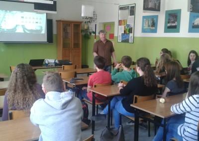 Zajęcia edukacyjne w Zespole Szkół Ogólnokształczących w Hajnówce