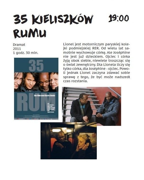 3. niedziela 35 kieliszków rumu