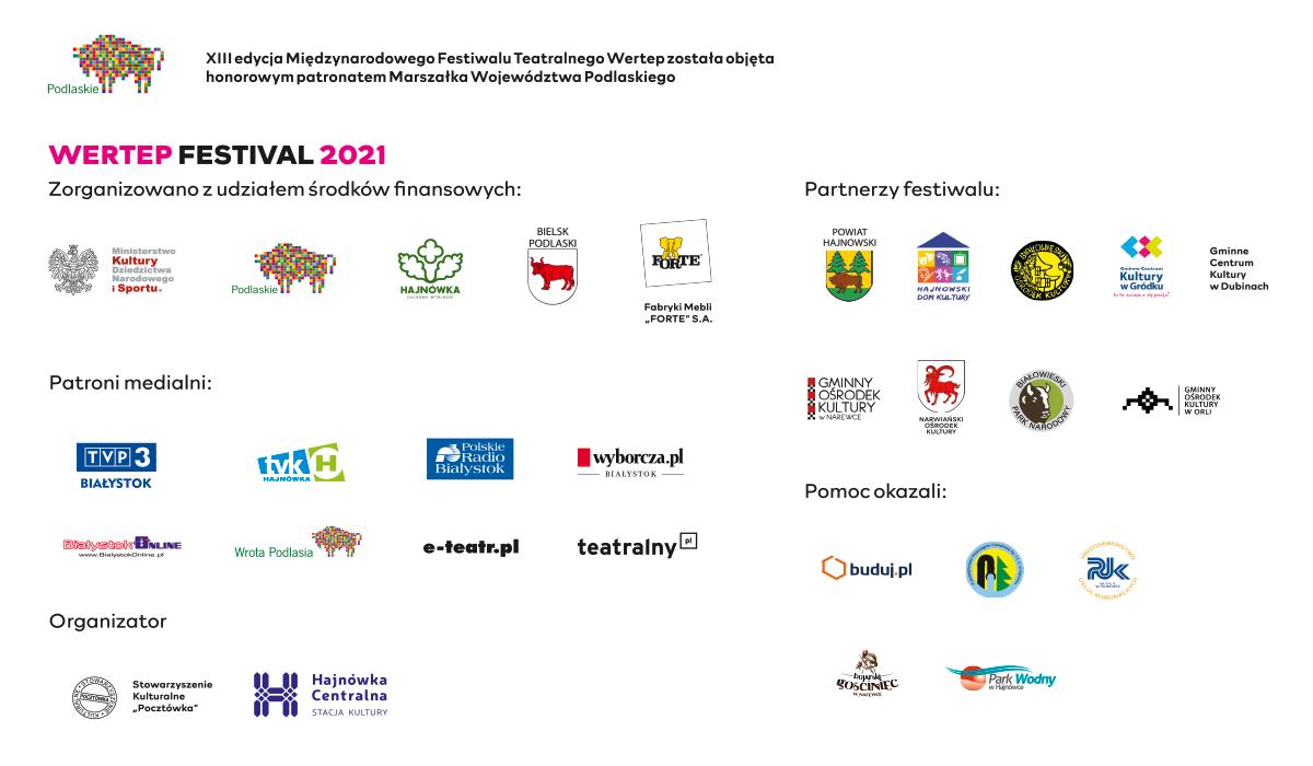 loga sponsorów i partnerów festiwalu